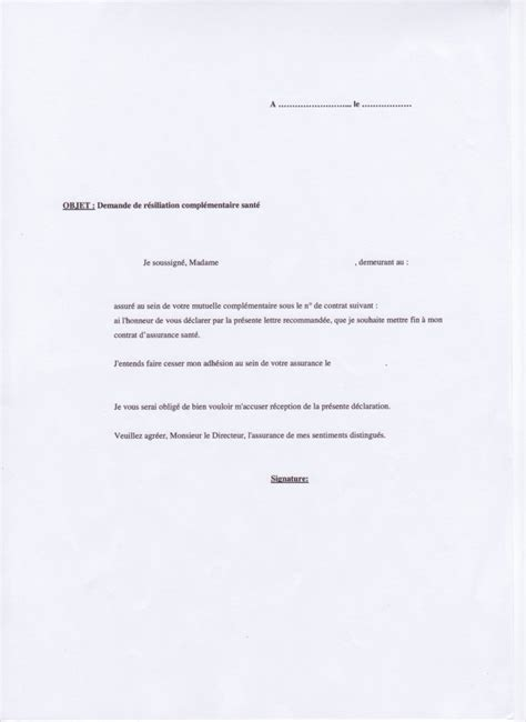 modele lettre resiliation mutuelle suite deces trouver modele lettre de resiliation modele de lettre