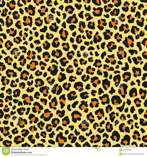 leopard seamless pattern animal print vector background
