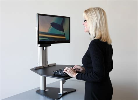 Ergo Standing Desk by Ergo Desktop Kangaroo Height Adjustable Tables Improve