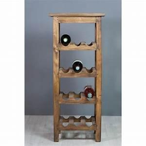 Range Bouteille Bois : meuble d 39 appoint range bouteilles en bois exotique naturel ~ Teatrodelosmanantiales.com Idées de Décoration