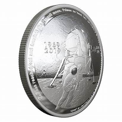 Apollo Coin Moon Landing Mint Silver Canadian
