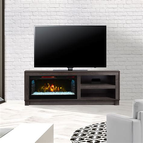 fireplace mantel cameron electric fireplace tv stand in grey cs 28mm1030 gry