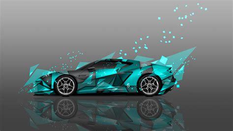 4k lamborghini asterion side abstract aerography car 2014