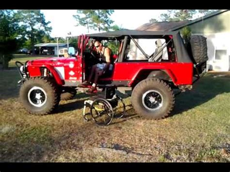 big red jeep paraplegic transfering into lifted jeep big red youtube