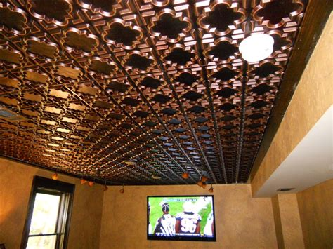 install faux tin ceiling tiles as backsplash the home redesign