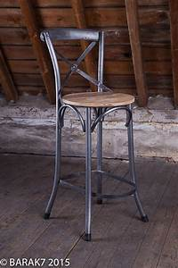 Chaise Bar Industriel : chaise haute bistrot bois metal de b a r a k 39 7 tous nos ~ Farleysfitness.com Idées de Décoration