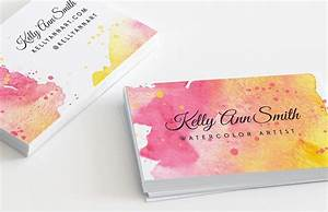 watercolor artist business card template medialoot With painting artist business cards