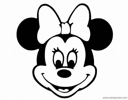 Minnie Mouse Coloring Face Pages Cartoon Disney