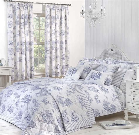 toile luxury bedding by julian charles in blue terrys