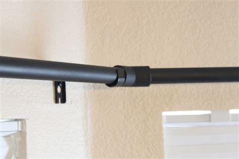 curtain rod extender diy diy bay window curtain rod pinching your pennies made