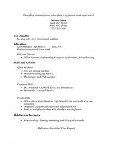 sle resume templates download resume template for no work experience sles of resumes