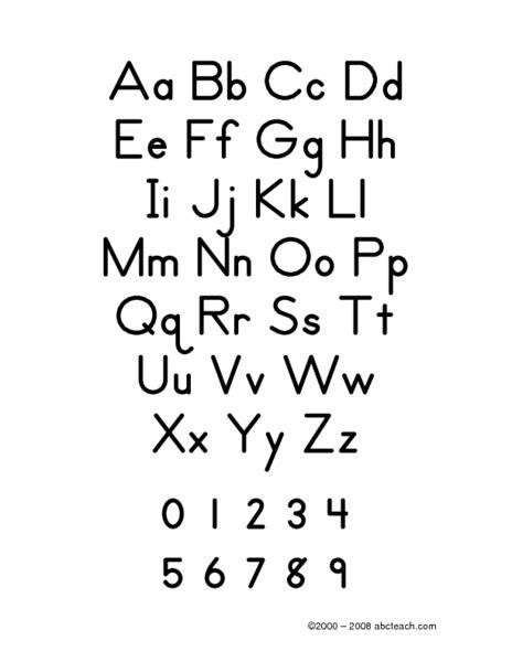 zaner bloser alphabet worksheet for 1st 2nd grade
