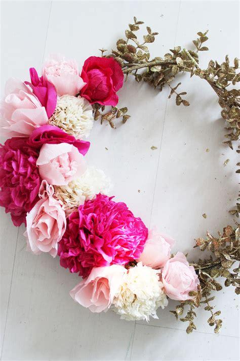 diy paper flower wreath poppytalk