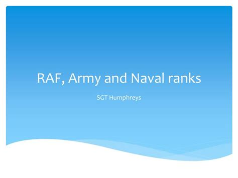 raf powerpoint template ppt raf army and naval ranks powerpoint presentation id 6535115