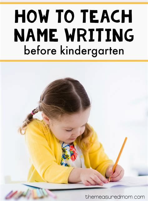 A Simple Way To Practice Name Writing Before Kindergarten!  The Measured Mom
