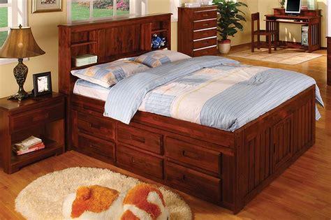 discovery world furniture merlot full captain bed