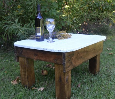 primitive coffee and end tables primitive country side table made from reclaimed wood