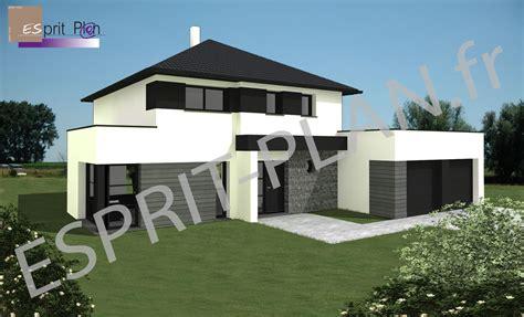 style de maison moderne plain pied avant projet maison extensions renovations sur arras lille et nord pas de calais modele