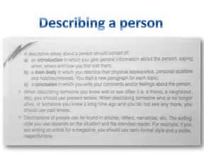 describe a person essay
