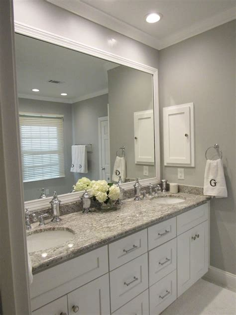 elegant grey  white master bath renovation muse