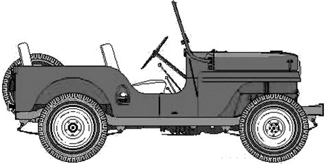 ww2 jeep drawing 0