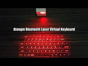 Atongm Virtual Bluetooth Laser Qwerty Keyboard For Android