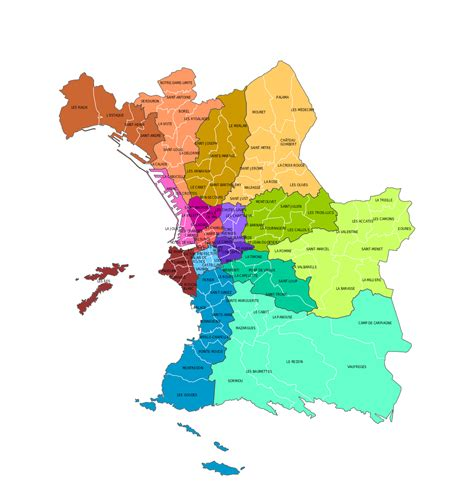 Carte De Avec Les Arrondissements by Cartograf Fr Carte De Marseille