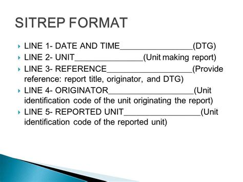 sitrep template tasks familiarize the commander s sitrep and 9 line medevac casualty evacuation request formats