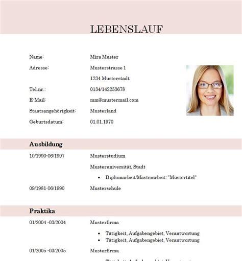 Lebenslauf Vorlage Student by Lebenslauf Vorlage Student Absolvent