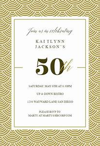 Save The Date Download Template 50th Golden Birthday Birthday Invitation Template Free