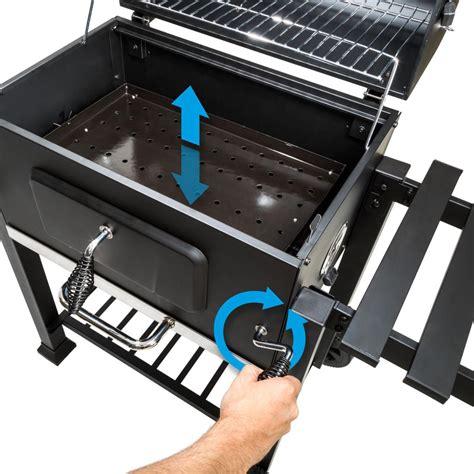 barbecue multifonctions acier inoxydable charbon de bois