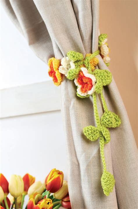 tie back templates curtains crochet curtain tie backs crochet pattern