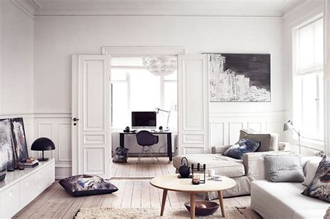 White Apartment by Wall Storage System In White Apartments