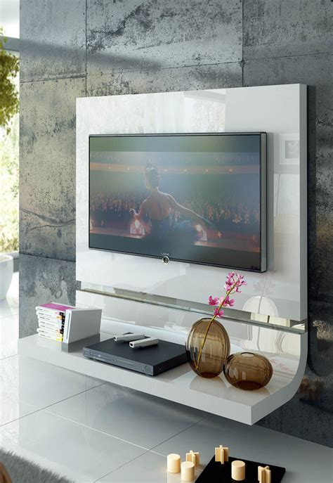 white plasma tv stands spain made white lacquer floating wall unit with optional