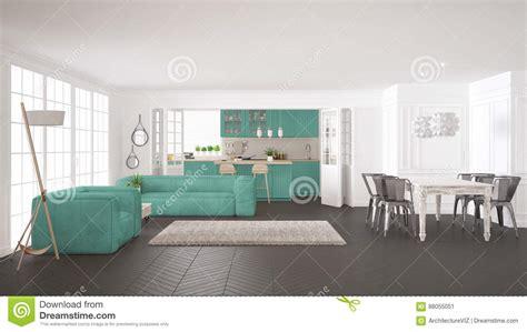 cuisine et vie blanc minimaliste et vie et cuisine de turquoise