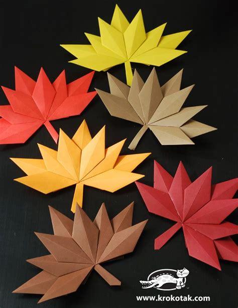 Deko Blätter Herbst by Herbst Bl 228 Tter Papier 3 Klasse Basteln Herbst