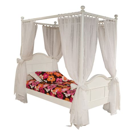 Bedroom White Metal Disney Princess Canopy Bed With