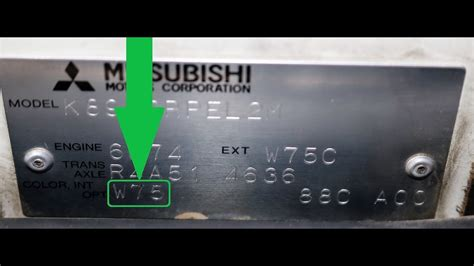 how to find your mitsubishi paint code youtube