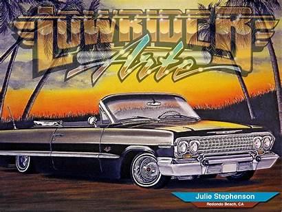 Lowrider Magazine Julie Stephenson Arte Wallpapers Wallpapersafari