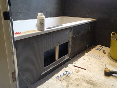 Tiling Panels For Bathrooms by Tiling A Bath Panel Home Tiled Bath Panel Bath Panel