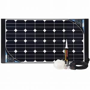Panneau Solaire 100w : kit complet panneau solaire black cristal 100w ~ Nature-et-papiers.com Idées de Décoration