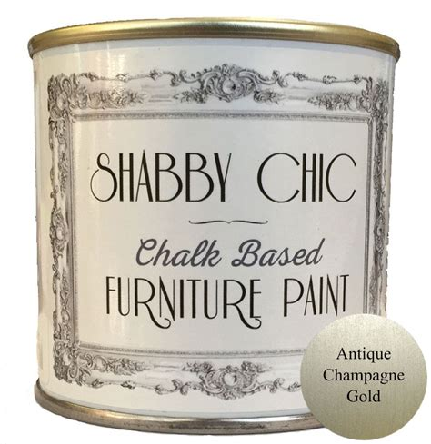 antique chagne gold shabby chic furniture chalk paint 250ml