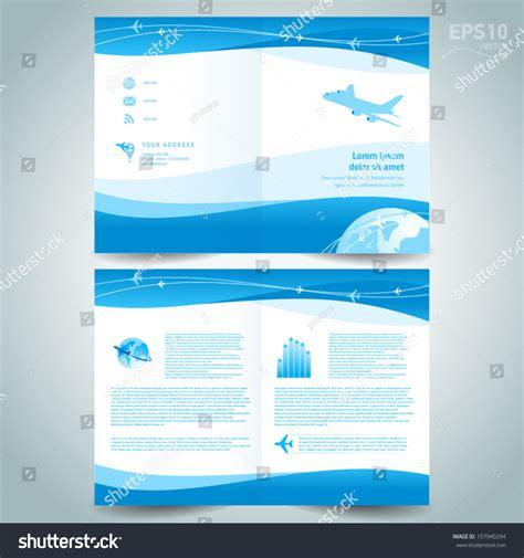 booklet design template catalog brochure folder stock