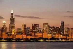 Chicago skyline wall mural peenmediacom for Good look chicago skyline wall decal
