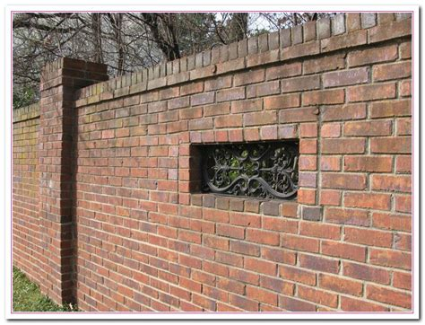 brick fence designs how to build brick wall fence designs home and cabinet reviews