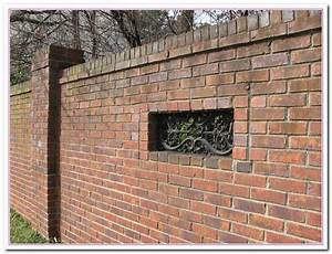 How to build brick wall fence designs home and cabinet for How to decorate a brick wall