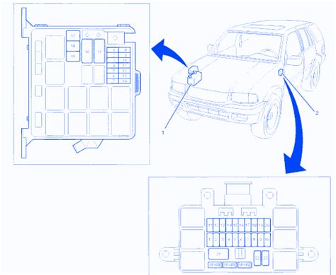 Wiring Diagram For Isuzu Dmax by Isuzu D Max 2002 Underhood Fuse Box Block Circuit Breaker