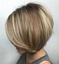 Short Layered Stacked Bob Hairstyles Fine Hair