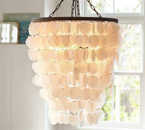 capiz chandelier large pottery barn