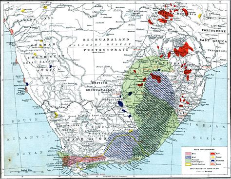 Economic Map Of Southern Africa